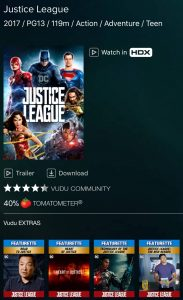 Justice League VUDU 4K Review