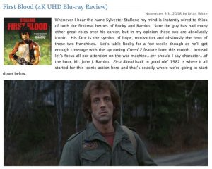 First Blood 4K Review
