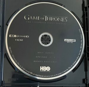 Game of Thrones Collection 4K Disc Example