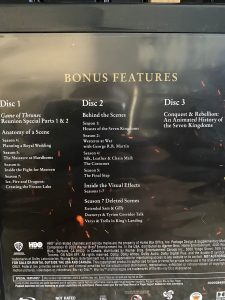 Game of Thrones Complete Collection 4K Review Bonus Features