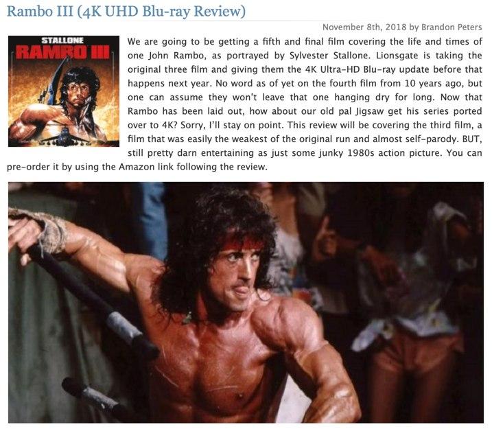 Rambo 3 4K Review